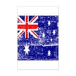 Vintage Australian Flag Mini Poster Print