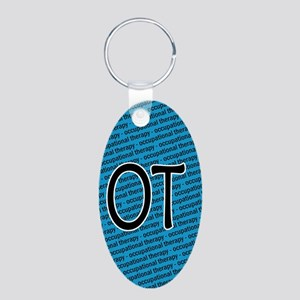 Occupational Therapy Aluminum Oval Keychain