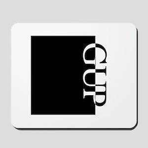 GUP Typography Mousepad