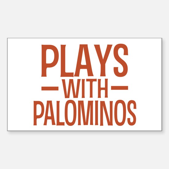 PLAYS Palominos Sticker (Rectangle)