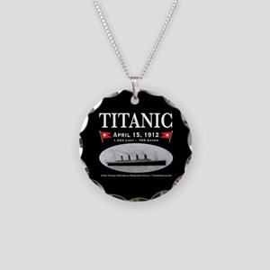 Titanic Ghost Ship (black) Necklace Circle Charm