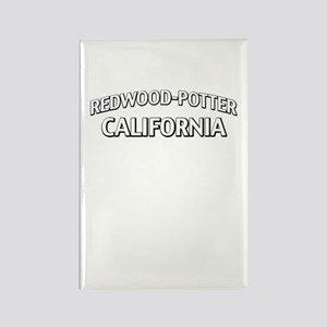 Redwood-Potter California Rectangle Magnet