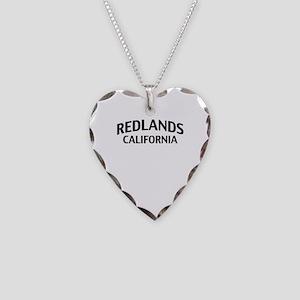 Redlands California Necklace Heart Charm