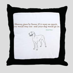 Mark Twain quote Throw Pillow