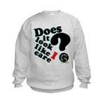 Does It Look Like I Care Kids Sweatshirt