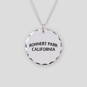 Rohnert Park California Necklace Circle Charm