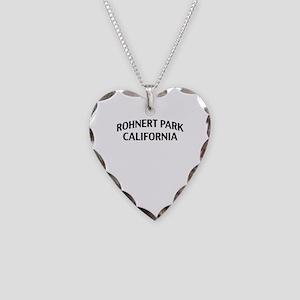 Rohnert Park California Necklace Heart Charm