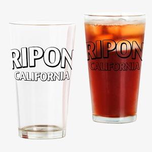 Ripon California Drinking Glass