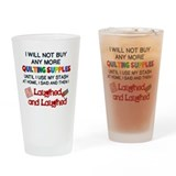Quilter Drinking Glass