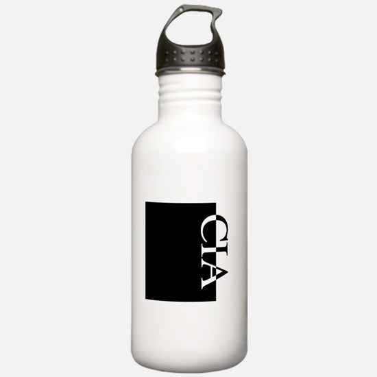 CIA Typography Water Bottle