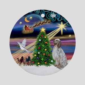 Xmas Magic English Setter Ornament (Round)