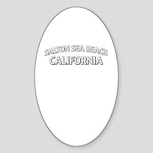 Salton Sea Beach California Sticker (Oval)