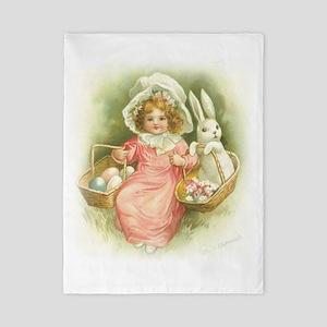 """Cute Easter Bunny"" Twin Duvet"