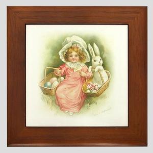 """""""Cute Easter Bunny"""" Framed Tile"""