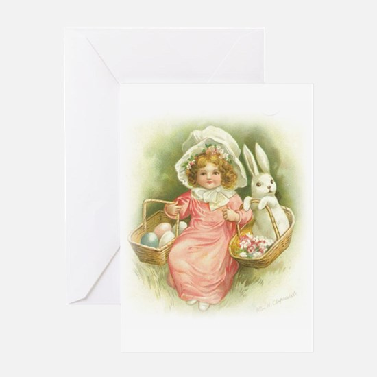 """Cute Easter Bunny"" Greeting Card"