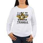 Women's Long Sleeve T-Shirt feat. Banana Triangle