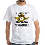 White T-Shirt featuring Banana Triangle cast