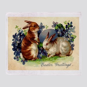 """Easter Bunnies"" Throw Blanket"