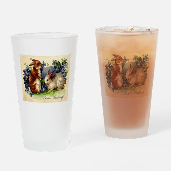 """""""Easter Bunnies"""" Drinking Glass"""