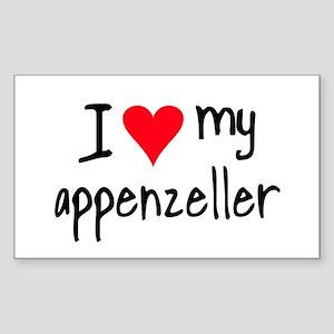I LOVE MY Appenzeller Sticker (Rectangle)