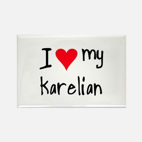 I LOVE MY Karelian Rectangle Magnet