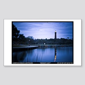 Currituck Beach Light Sticker (Rectangle)