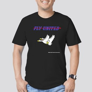 Fly United Men's Fitted T-Shirt (dark)