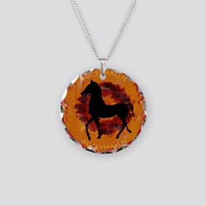 Bucephalus Necklace Circle Charm