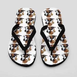 Lotsa CKC Spaniels White Flip Flops