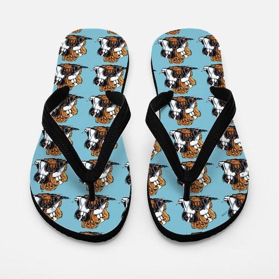 Lotsa CKCS Blue Flip Flops