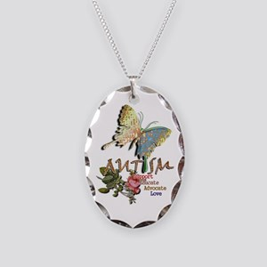 Autism: Necklace Oval Charm