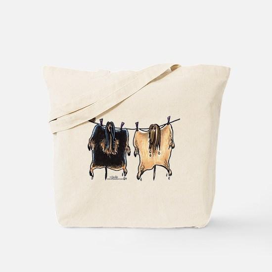 Line Dry Afghans Tote Bag