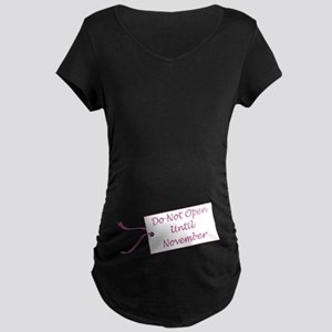 Due Date November Maternity Dark T-Shirt