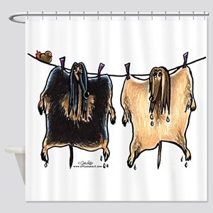 Line Dry Afghans Shower Curtain