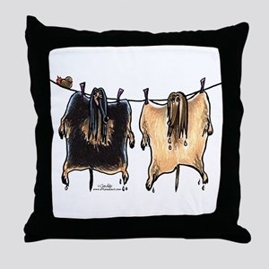 Line Dry Afghans Throw Pillow