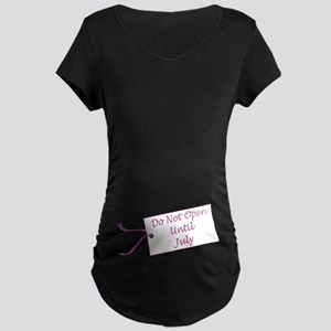 Due Date July Maternity Dark T-Shirt
