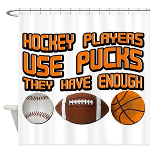 Funny Hockey Quotes Shower Curtains