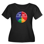 Autistic Women's Plus Size Scoop Neck Dark T-Shirt