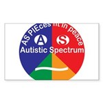 Autistic Spectrum Sticker (Rectangle 50 pk)