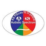 Autistic Spectrum Eye Sticker (oval 10 Pk)