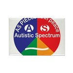 Autistic Spectrum Rectangle Magnet (100 pack)