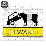 Beware Cow Sign Puzzle