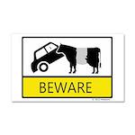 Beware Cow Sign Car Magnet 20 x 12