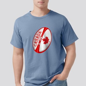 Canadian Rugby Ball Mens Comfort Colors Shirt