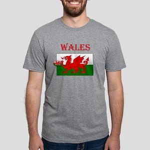 Wales Rugby Mens Tri-blend T-Shirt