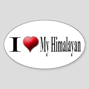 I Love My Himalayan Oval Sticker