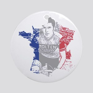 Eddie Merckx France Round Ornament