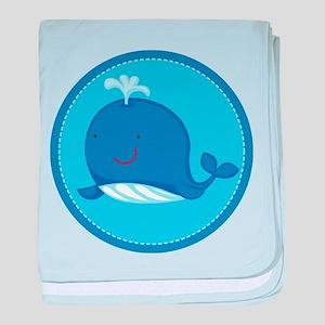 Cute Whale Ocean baby blanket