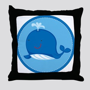 Cute Whale Ocean Throw Pillow