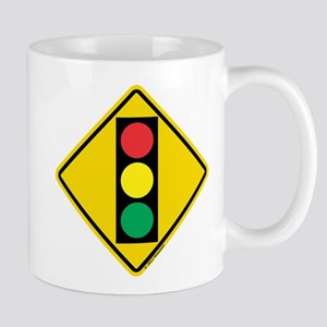 Signal Ahead Caution Sign Mug